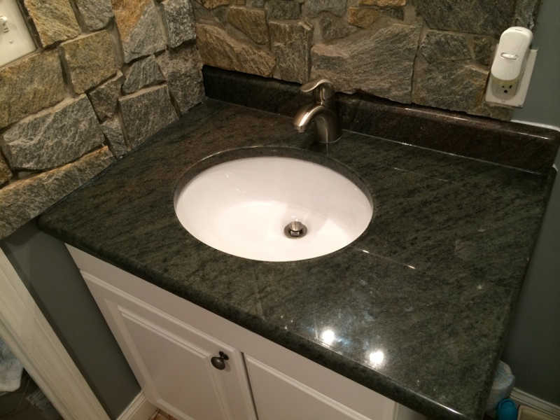Bathroom, granite finish